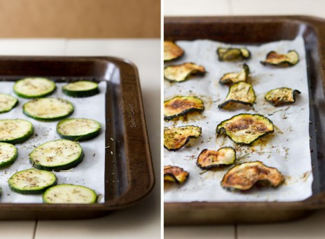 Gebakken courgette chips