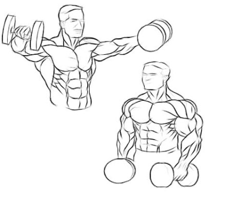 Dumbbell raise